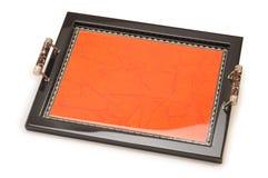 Hand made tray. Royalty Free Stock Photos