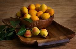 Still life with peaches royalty free stock image