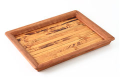 Wooden tray Stock Photos