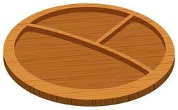 Wooden tray with three holes Royalty Free Stock Photo