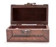Wooden treasure box Royalty Free Stock Photos