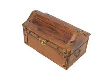 Wooden Treasure chest Stock Photography