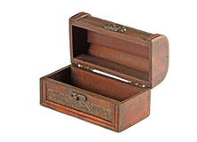 Wooden treasure chest Royalty Free Stock Photos