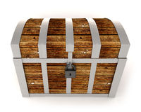 Wooden treasure chest Royalty Free Stock Photo