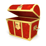 Wooden treasure chest Stock Images