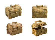 Wooden treasure chest To decorate the house royalty free stock photography