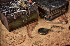 Wooden treasure Stock Images