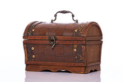 Wooden treasury case Stock Photography