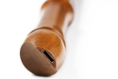Wooden treble flute Stock Photography