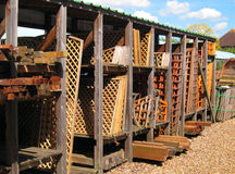 Wooden trellis or fencing for sale. Stock Photography