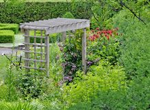 Trellis in the garden Royalty Free Stock Images