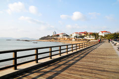 The wooden trestle Royalty Free Stock Photography