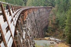 Wooden trestle. Kinsol Trestle bridge - Vancouver Island, BC, Canada Stock Photography
