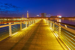 The wooden trestle in night Stock Photos