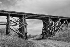 Wooden trestle Royalty Free Stock Photography