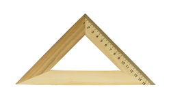 Wooden triangle Stock Photography