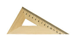 Wooden triangle Stock Image