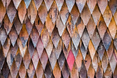 Wooden triangle background Stock Image