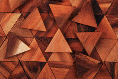 Wooden triangle background Royalty Free Stock Photos