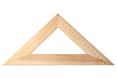 Wooden triangle Stock Images