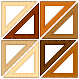 Wooden triangle ruler Royalty Free Stock Photo