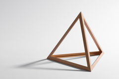 Wooden triangular frame Stock Photos