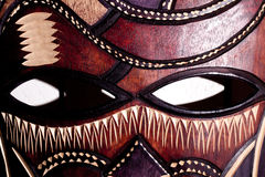 Wooden tribal mask close up Stock Photography