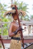 Wooden tribal model oar the boat Royalty Free Stock Image