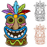 Wooden Tribal Tiki Idol Stock Photos