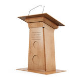 Wooden tribune  on white background. 3d rendering Royalty Free Stock Images