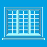 Wooden tricuspid window icon outline Royalty Free Stock Photo