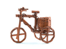 Wooden tricycle toy. Bicycles, tricycles on White background and isolated Stock Image