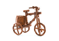 Wooden tricycle toy. Bicycles, tricycles on White background and isolated Stock Photos