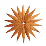 Wooden trivet. On a white background Stock Photos