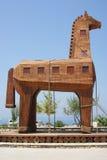 Wooden trojan horse. Huge wooden trojan horse in antique Troya near Canakalle Royalty Free Stock Photo