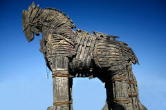 Wooden troya horse royalty free stock photo