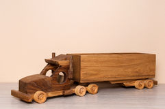 Wooden truck toy Royalty Free Stock Image