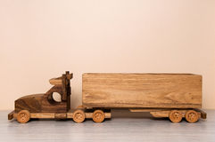 Wooden truck toy Stock Photo