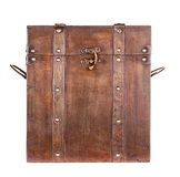 Wooden trunk or chest isolated Royalty Free Stock Images