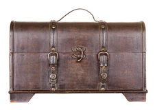 Wooden trunk or chest isolated Stock Images