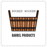 Wooden tub, basket on white background. Flat colored icon. Wooden tub, basket on white background. Bath products. Flat colored icon. Vector illustration stock illustration