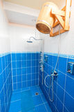 Wooden tub in the bath, for a contrast shower Stock Photography