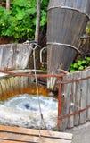 Wooden tub for carpet washing Stock Image