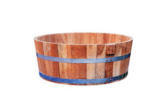 Wooden tub isolated. Royalty Free Stock Photos