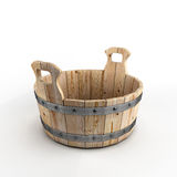 Wooden tub for washing. On white background royalty free illustration