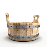 Wooden tub for washing Royalty Free Stock Images