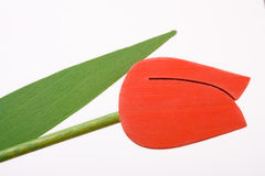 Wooden Tulip Stock Photo