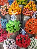 Wooden tulips Stock Image