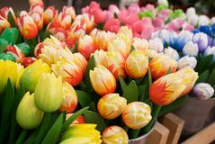 Wooden tulips Royalty Free Stock Photo