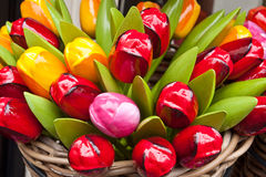 Wooden tulips - souvenirs in Utrecht Stock Images